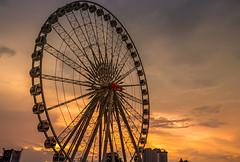 """ MEKHONG FERRIS WHEEL "" (suwaparnjaruchaisittikul) Tags: ferriswheel market cloud sunset sky asiatique bangkok thailand"