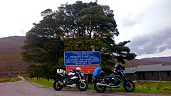 Default photo on front of sign (urbannivag) Tags: northcoast500 scotland adv triumph speedtriple motoguzzi v7 motorbikes adventure touring