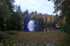 2016 - 14.10.16 Enchanted Forest - Pitlochry (49) (marie137) Tags: enchanted forest pitlochry mobrie137 scotland lights music people water reflection trees shows food fire drink pit patter shapes art abstract night sky tour family walk path bells smoke disco balls unusual whisperer bridge wood colour fun sculpture day amazing spectacular must see landscape faskally shimmer town