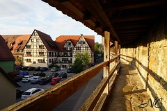 Walking the wall (Nancleve) Tags: germany rothenburg vacation walls walledcity halftimbered houses buildings gates