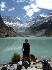 Me, myself, I (threejumps) Tags: peru me myself i selfie mountain glacier snow ice reflection lake