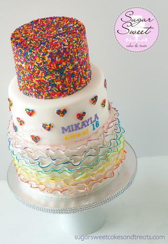 Sweet 16 Rainbow Cake