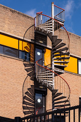 EIGHT (devos.ch312) Tags: stairs stairway fireescape light shadows outdoor metal architecture