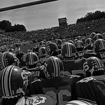 Wolfpack prepare to run out onto the field at Carter-Finley for a 1983 game. (© Roger Winstead)