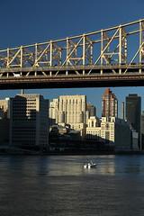 Bridge & Boat (Roosevelt Island/NYC) (chedpics) Tags: newyork rooseveltisland eastriver 59thstreet queensborough bridge