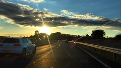 Commuting Home (Marc Sayce) Tags: commuting home sunset vw golf mk7 mk 7 volkswagen sundown a31 bentley hampshire