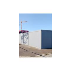 construct (Richard:Fraser) Tags: construction site fence perimeter crane minimal blue sky sun uk richardfraserphotography copyright richard fraser all rights reserved