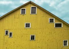 Howard's Gristmill in Mulino 2154 B (jim.choate59) Tags: barn wall window jchoate building rural silverton silvertonoregon hww odd yellow irregular awkward on1pics mulinooregon howardsgristmill gristmill