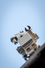 Reaching out for the Sky (Reiterlied) Tags: 105mm d5200 dslr germany hamburg lego legography lens macro minifig minifigure nikon photography prime reiterlied robot sipgoeshamburg2016 sigma stuckinplastic sunrise toy
