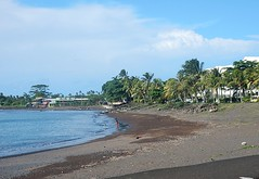 Apia's Black Beach (mikecogh) Tags: apia samoa beach black sand volcanic palms foreshore