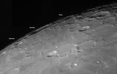 20161017 23-36 Northern Libration annotated (Roger Hutchinson) Tags: hermite peary sylvester craters moon space astronomy astrophotography celestron libration asi120mm
