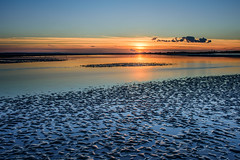 Blue Sands (Explore 16-10-2016) (Sunset Snapper) Tags: bluesands sunset westwinnersandbank haylingisland hampshire southcoast uk reflections sky sand ripples pools sea water longexposure filters littlestopper nd grad nikon d810 2470mm lowtideoctober2016 sunsetsnapper