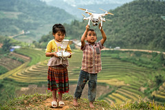 The children  playing drones (Sutipond Somnam) Tags: children child boy girl vietnam laos cambodia hanoi sapa vietnamdrone view outdoor drone controlled pilot control sky fly aircraft playing multirotor camera aerial filming people technology helicopter activities photographer quadricoper toy octa professional hobby unmanned remote rotor gadget octocopter controller birdseyeview together friend joyful happiness