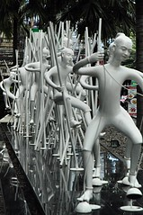 Bangkok By Stilts - Sukhumvit Road (jcbkk1956) Tags: bangkok thailand street art figures sukhumvitroad nikon nikkor 1870mmf3545 stilts dance d70s worldtrekker