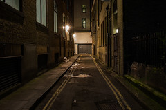 Colour of Night #6 (Are You Looking Closely) Tags: london londonnight londoner londonphoto londonist night nightphotography nightcolour unitedkingdom england spooky scary alone dark alleyway empty colour streetphotography streetphotographer street