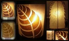Leaf lamp (Bespoke handmade lighting) Tags: hoja leaf handmade shade fractal lampara llum fulla abraxas hechoamano mampara selfsimilarity fetama