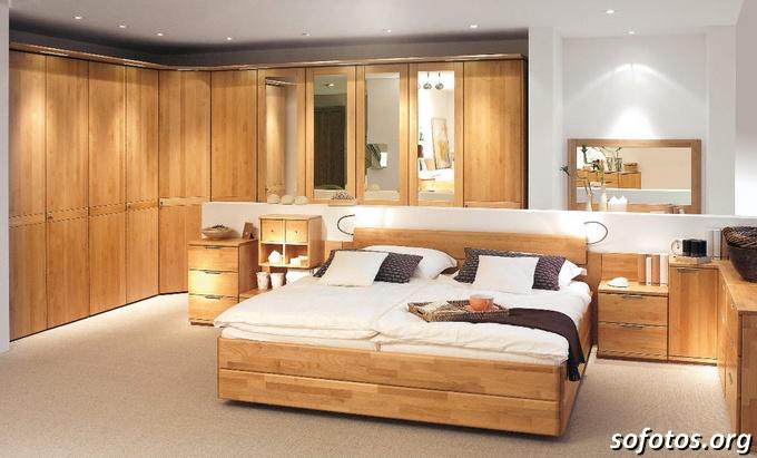 quarto de casal em madeira