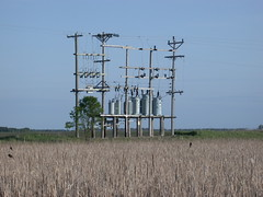 Rural substation by a marsh [Explored] (NDLineGeek) Tags:
