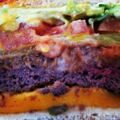 The many layers of Planet Earth (All About Eve) Tags: tomato square burger delicious cheeseburger squareformat layers inkwell iphoneography instagramapp uploaded:by=instagram