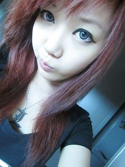 leechinhwa (31) (LEECHINHWA l skyler) Tags: red cute girl beautiful hair sweet russia korea korean lee kawaii uzbekistan chin skyler hwa pika lenses takumi ulzzang uljjang ohljjang leechinhwa