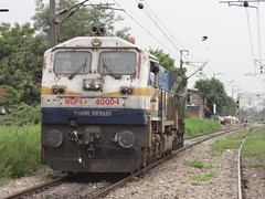 TKD EMD WDP4B Light (Jai ABB) Tags: new light delhi side express northern heading past nr railways towards tkd gonna probably moves nagar palindrome haul shalimar jat emd okhla 40004 lajpat tughlakabad nizzamudin wdp4b