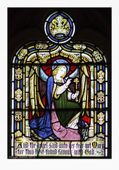 (Roger Walton) Tags: uk england gabriel yorkshire angels annunciation stainedglasswindows sledmere biblicalfigures scripturalreferences stmaryssledmere