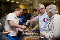 Hot Dog Study Break_051213_0039 (Luther College _ Photo Bureau) Tags: dog hot college zach spring student break towers miller study finals week zachary professor professors volunteer faculty semester luther volunteerism 2013 dieseth stottler 20122013