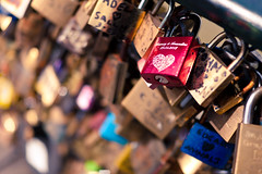 A unique expression of love (I am Fry) Tags: bridge paris france love seine keys dof heart bokeh unique coeur amour padlock pontdesarts everlasting sigma30mmf14exdchsm