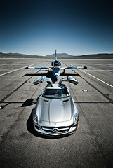 Ready for Departure (Folk|Photography) Tags: blue vertical speed silver lens photography mercedes airport nikon fighter angle 21 folk nevada wide jet may fast sigma automotive professional exotic commercial mercedesbenz reno gil expensive 1020mm barren camoflauge supercar trainer sls albatross amg gullwing l39 stead aeronautical 2013 d3000