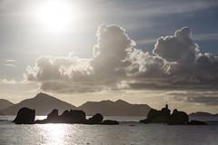 Praslin island from La Digue island (dataichi) Tags: ocean travel shadow tourism island rocks indian granite destination seychelles indien granit sechelles