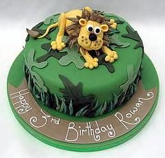 Lion cake by Vanessa, Ellsworth ME, www.birthdaycakes4free.com