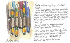 4jun13 sketchkit (alissa duke) Tags: watercolourpencil sketchkit pencilroll pencilwrap