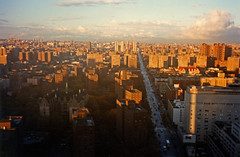 Harlem Near Sunset As A Storm Clears; New York, New York (hogophotoNY) Tags: newyorkcity sunset usa newyork storm get film weather analog us view harlem north olympus fromabove 35mmfilm filmcamera spanishharlem agfa clearing clearingstorm agfafilm agfa35mmfilm olympus3500 hogophoto analognewyork