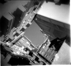 [La Mia Citt] (Urca) Tags: blackandwhite bw 120 mediumformat holga lomo italia doubleexposure milano bn squareformat biancoenero doppiaesposizione 2014 analogico 211112014005