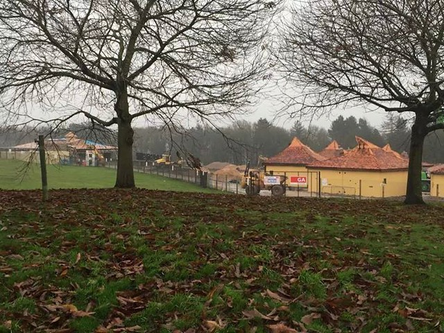 Construction is continuing over at the Enchanted Village site