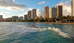 Surface Tension (jcc55883) Tags: ocean sky skyline clouds hawaii nikon waikiki oahu pacificocean yabbadabbadoo d40 kuhiobeachpark kapahulugroin nikond40 waikikishoreline