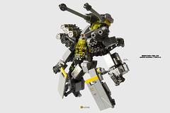 Buster Talos Mecha Ver2.2 (clmntin.E) Tags: portraits robot suits lego mechanical military hard battle mini future artillery shield tandem pilot futuristic mecha mech povray creations mocs minifigure moc afol ldd exo miniland talos hardsuits minifigurine exosuits
