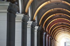 Melbourne GPO Building (Quinn Chow) Tags: sunset sun building architecture arch arcade columns australia melbourne victoria archway gpo quinnchow