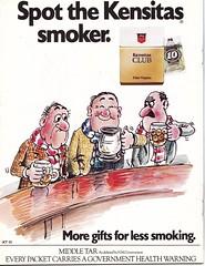 Northern Ireland vs Scotland - 1978 - Page 20 (The Sky Strikers) Tags: ireland ads scotland smug smoker northern tat cigs drinker kensitas