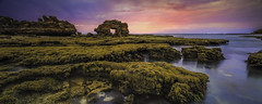 Last Light At Keyhole Rock (Bjorn Baklien) Tags: longexposure sunset panorama seascape water landscape morningtonpeninsula hdr bridgewaterbay keyholerock tse24mmf35lii