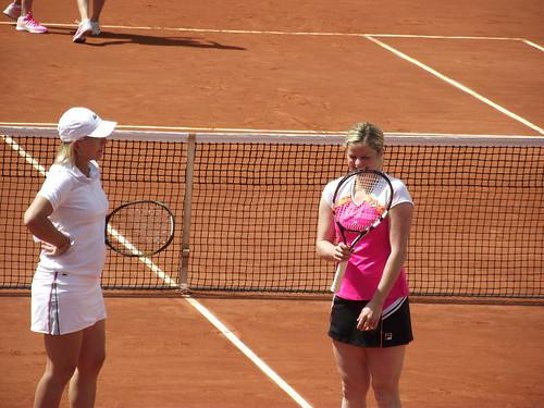 Kim Clijsters - Roland Garros 2014 - Kim Clijsters & Martina Navratilova