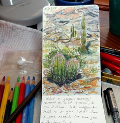 2/2 morning sketch (Az~Kate) Tags: moleskine pencil ink watercolor joy journal coloredpencil