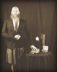 This being Portrait 48 of 52 (=Melvin the Satyr=) Tags: portrait beard kilt fake staged oldtimey fakevintage 52weeksthe2014edition week482014 weekstartingwednesdaynovember262014