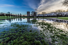 Reflections (ianmiddleton1) Tags: park winter water grass sunrise canon reflections scotland glasgow sigma bellahouston