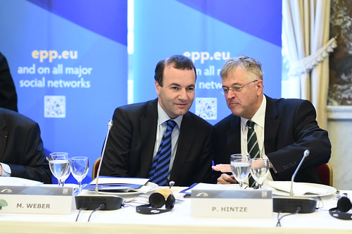 brussels party people germany european president politics vice parliament peter summit epp weber manfred 2014 hintze euco