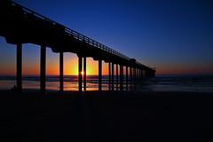 scripps pier (ranchodon) Tags: ocean california sunset canon evening pier 7d lastlight scripps coloful