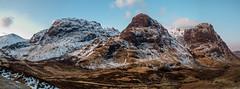 Three Sisters - Pass of Glencoe (Highlandscape) Tags: blue sky cloud snow mountains ice weather sisters three frozen pass olympus hills threesisters glencoe features peaks zuiko e5 aonach beinn dubh a82 passofglencoe aonachdubh gearraonach gearr beinnfhada 1260mm fhada