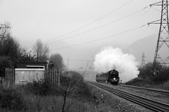 Margam 21724bw (kgvuk) Tags: trains locomotive railways steamlocomotive 460 margam black5 44871 southwalesmainline