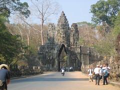 Stone Gateways over Road in Siem Reap