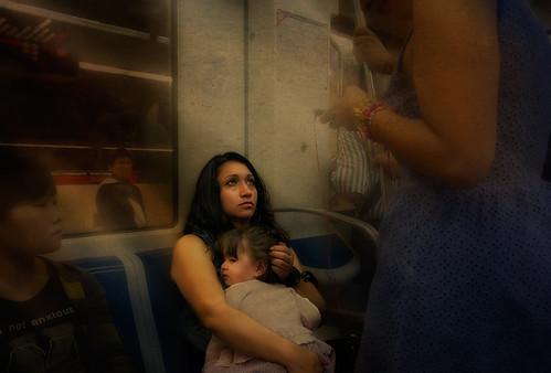 Retrato en el metropolitano 140 Barcelona